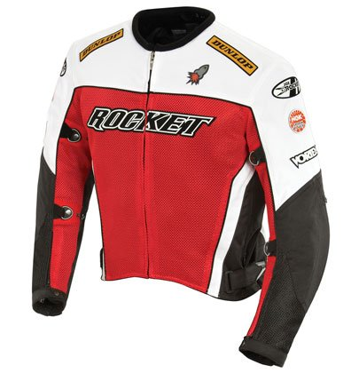 - Joe Rocket 'UFO 2.0' Mens Mesh Motorcycle Jacket - Large