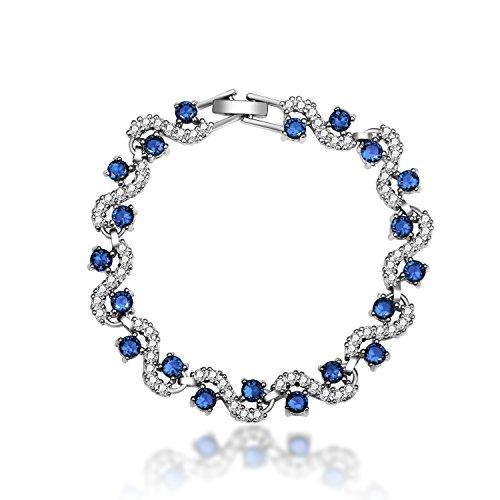 Feraco Blue Tennis Bracelet Wo
