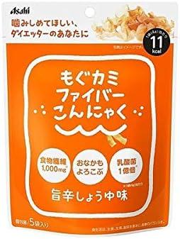◆アサヒグループ食品もぐカミファイバーこんにゃく旨辛しょうゆ味4g×5袋