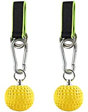 ZNCMRR Climbing Pull Up Power Ball Hold Grips with Straps, Non-Slip Hand Grips Strength Trainer Exerciser for Bouldering, Pull-up, Kettlebells, Fitness, Workout