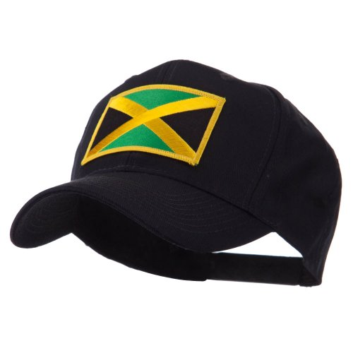 - North and South America Flag Embroidered Patch Cap - Jamaica OSFM