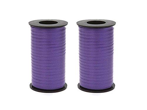 Set of 2 Berwick 1 09 Splendorette Crimped Curling Ribbon, 3/16-Inch Wide by 500-Yard Spool, Purple