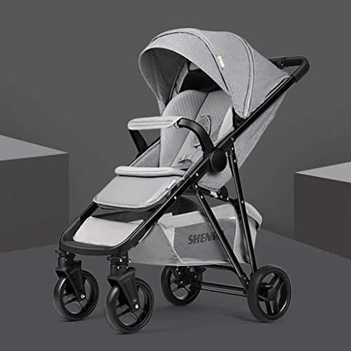 Producto del bebe Ligera bebe Silla de paseo se pueden sentar y Lay con un solo boton plegable portatil con errores Cochecito de bebe, cochecitos sistema de viaje compacto (Color: Negro camuflaje) (Co