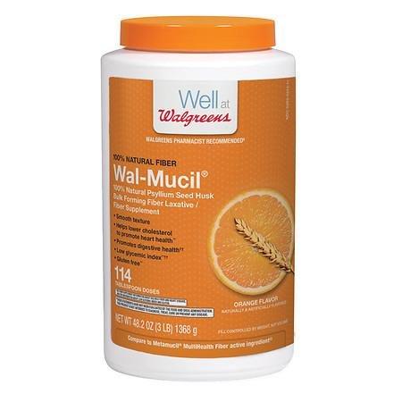 Wal-Mucil 100% Natural Psyllium Seed Husk Bulk Forming Fiber Supplement Powder - 3PC