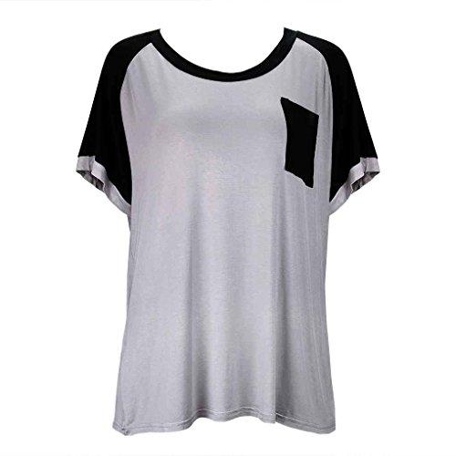 dormir corta negro cuello modal ropa pijamas Kit chica manga redondo camisón mujeres Babysbreath17 de IU0qnwxC0g