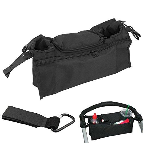 Buggy Organiser Storage Bag for Buggies, Plus 1x Free Buggy Clips, Stroller Organizer, Buggy Buddy Stroller Organiser