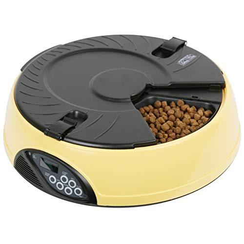 HFPTL Alimentador automático para Gatos Cuenco de Alimentos para Mascotas 6 alimentaciones Sincronización Inteligente para...