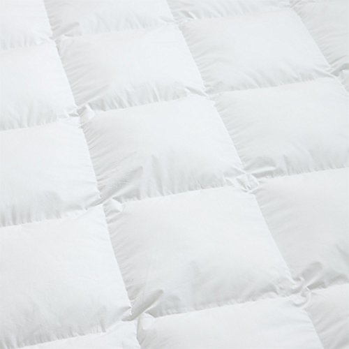Luxurious King/California King Size Siberian Goose Down Comforter, Duvet Insert, 1200 Thread Count 100% Egyptian Cotton, 750+ Fill Power, 70 oz Fill Weight, 1200TC, White Solid