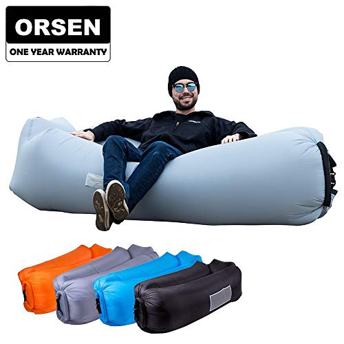 ORSEN Inflatable Lounger Portable Hammock Air Sofa with Water Proof,Anti-Air Leaking Design,Ideal Inflatable Couch and Beach Chair Camping Accessories for Parties Picnic&Festival ()