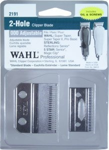 Adjustable Blade Set - Wahl Professional Adjustable Clipper Blade set #2191 - For 5 Star Senior, Magic Clip, and Reflections Senior - Includes Oil, Screws & Instructions