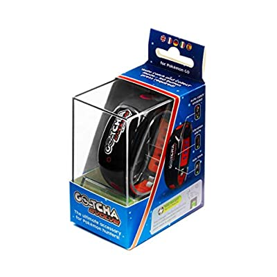 Go-tcha Evolve LED-Touch Wristband Watch for Pokemon Go with Auto Catch and Auto Spin - Black/Red: Video Games