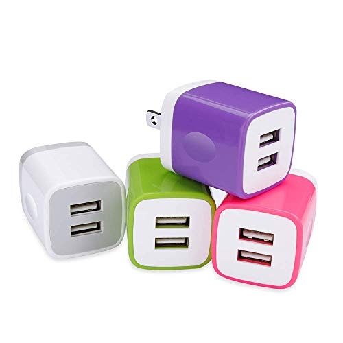 - USB Wall Charger, FastPort 4-Pack 2.1A Power Dual Port Charger Plug Adapter Charging Box Brick Compatible iPhone Xs/XS Max/XR/X/8/7/6Plus, Samsung Galaxy S10 Plus S9 S8 S7 Note 8, LG, HTC, Sony, Nokia