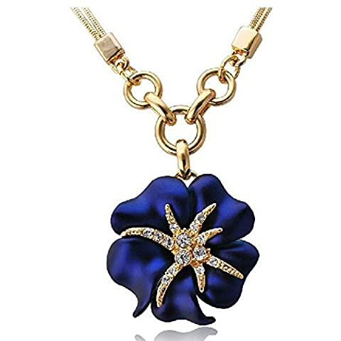 GUGGE Sea Starry Night Starfish and Flower Necklace for Women(C2) - Roberto Coin Elephant Jewelry Set