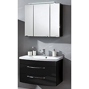 Badmöbel Set 2-teilig ○ Waschtisch mit Unterschrank ... | {Doppelwaschtisch mit unterschrank und spiegelschrank 90}