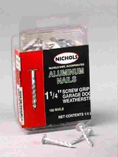 Nichols Wires Aluminum Siding Nail 1-1/4 '' 0.120 '' Aluminum Box 1/4 Lb.