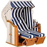 Sunny Smart Strandkorb Rustikal 250 Plus Stoff-Nr. 1080, Halbliegemodell
