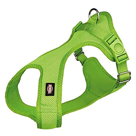 TRIXIE Suave Perro arnés, 25 – 35 cm x 15 mm, Color Verde: Amazon ...