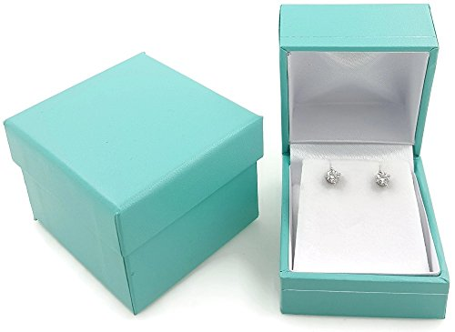 FlanicaUSA Deluxe Robin's Egg Blue Teal Jewelry Gift Box (Earring)