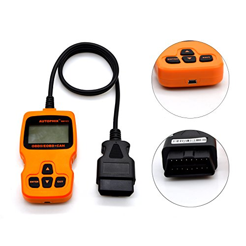 OM123 Vehicle Car Fault Code Reader - PerryLee Mini Portable LCD OBDMATE OBDII OBD2 EOBD+CAN Scan Scanner Tool Car Vehicle Auto Engine Trouble Analyzer Tester Diagnostic Code Scanner Tool Orange by PerryLee (Image #4)