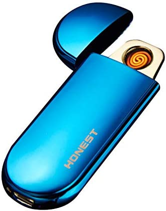 Ezzyso USB Charge Electronic Windproof Thin Male Personality