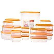 Princeware SF Tal Pak Container Set, 20-Pieces, Orange