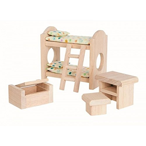 - Plan Toy Doll House Children's Bedroom - Classic Style