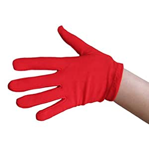 SeasonsTrading Child Red Costume Gloves ~ Halloween Costume Accessory (STC12101)