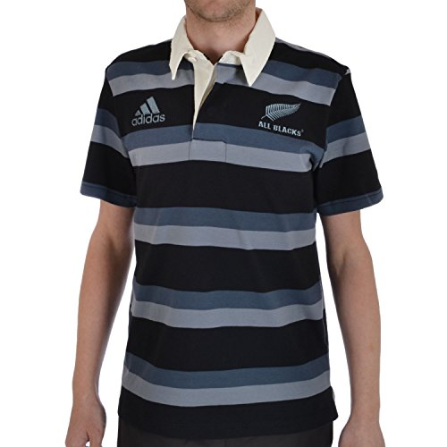 adidas Performance 16th Mens All Blacks New Zealand Polo Shirt - S