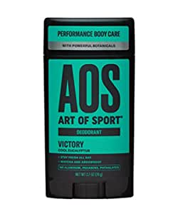 Art of Sport Men's Deodorant - Victory Scent - Aluminum Free Deodorant for Men with Natural Botanicals Matcha & Arrowroot - High Performance Formula for Athletes - Goes on Clear - 2.7oz