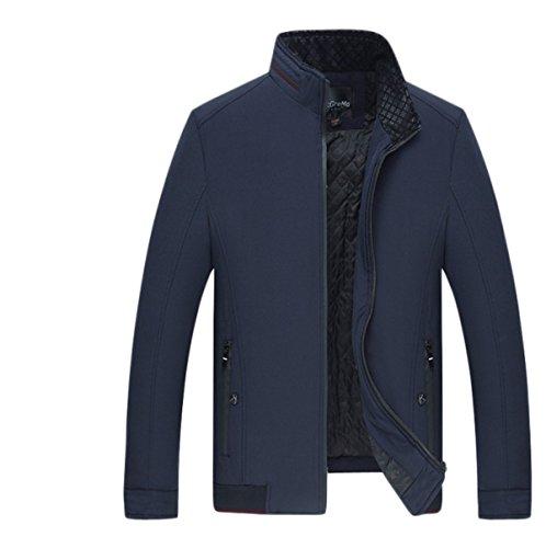 Cappotto Giacca A Con Maniche Lungo Da Classica l Classico blue Cerniera Lunghe Uomo Lavoro rtnqt8