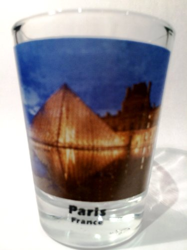 Paris France Louvre Color Photo Shot Glass