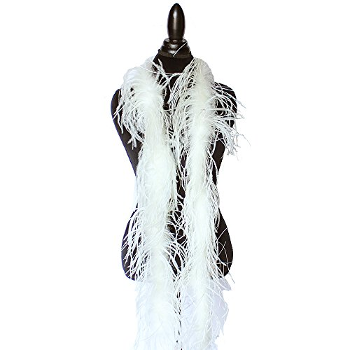 - 1ply Ostrich Feather Boas, Over 20 Colors to Pick Up … (Cream Yellow)