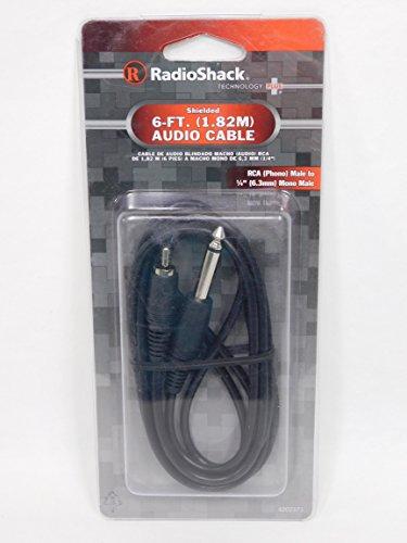 RadioShack 6-Foot Shielded Cable 1/4