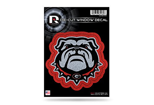 Rico Industries NCAA Georgia Bulldogs Bling Die Cut Window Decal with Glitter Accent