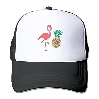 Flamigo and Pineapple Men Women Adjustable Snapback Hats Hip Hop Caps | Baseball Caps Mesh Back