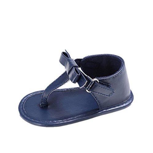 Sandalias de bebé,Auxma para 3-18 meses Zapatos antirresbaladizos suaves del pesebre de las sandalias del verano del arco de la niña Armada