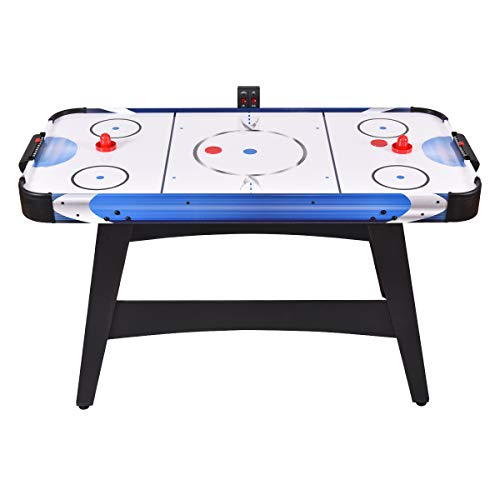 GYMAX 54' Air Hockey Table, Electric Air Powered Hockey with 2 Pucks 2 Pushers Electronic Scorer,for Kids and Adults