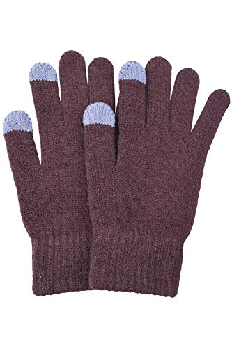 BODY STRENTH Womens Touch Screen Gloves Magic Winter Warm Cashmere Brown (1 Gloves Magic)