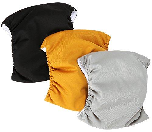 Image of Wegreeco Washable Male Dog Belly Wrap - Pack of 3 - (Gold,Black,Grey,Medium)