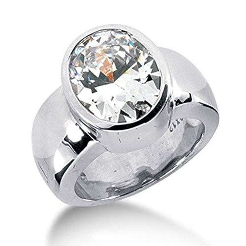 Oval Diamond Solitaire Ring for sale
