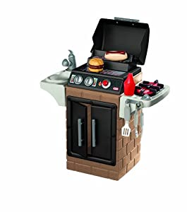 Little tikes get out n 39 grill kitchen set for Kitchen set games