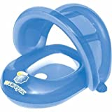 UV CarefulTM 50+ UPF Baby Care Seat (Blue) - Covered Swimming Pool Float