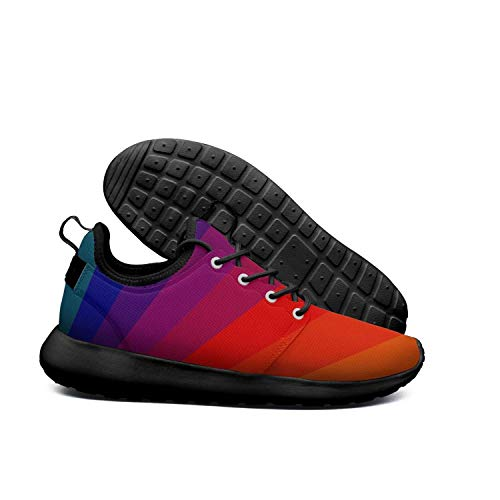 Stripe Rainbow Rubber Soft Lightweight Opr7 1 70S Sole Sneaker Shoes For Sole Stripe Light Running Women Rainbow Abstract ZxwSwqpE