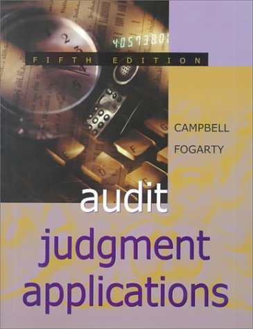 Audit Judgment Applications: An Integrated Case