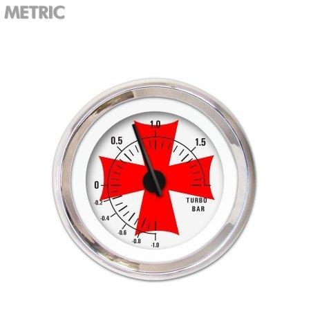 Aurora instrumentos gar281zm por mabcc Medidor de Turbo – métricas Cruz de Hierro Blanco Rojo cross44