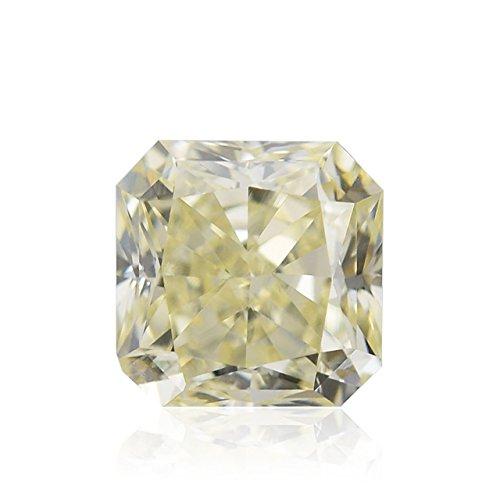 Diamond Radiant Loose Diamonds (0.52 Carat V-W, Light Yellow Loose Diamond Natural Color Radiant Cut IGI)