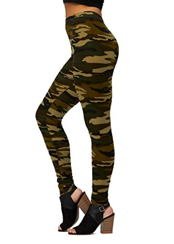 Ultra Soft High Waisted Leggings in 30 Colors - Regular and Plus Size for Women - Full Length - Camouflage - Plus Size (12-24)