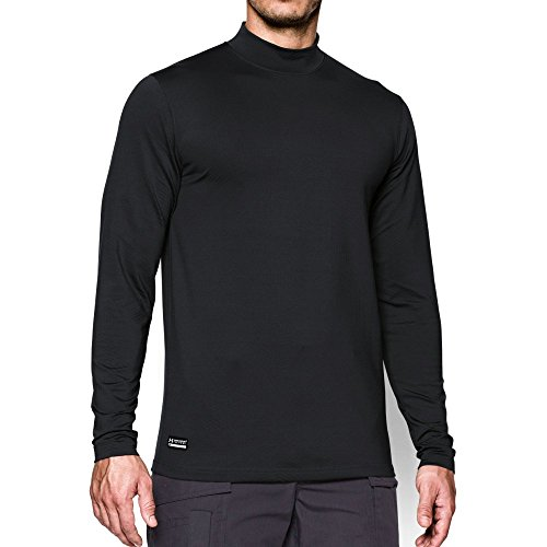 Under Armour Men's ColdGear Infrared Tactical Fitted Mock, Black /Black, XX-Large