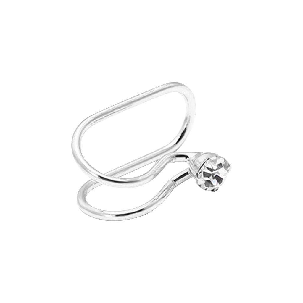 P Creative Fashion Diamond-Free Perforated Ear Clip Single U-Shaped Stainless Steel Earrings Stud Earrings for Women