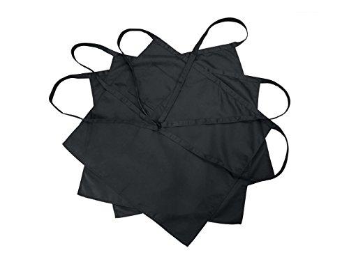 Nanxson(TM) 3pcs Men's Chef Black Unisex Half Long Solid Color Bistro Apron AL8024- (3pcsblack, one size)